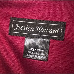 Jessica Howard Dresses - Jessica Howard Plus Red Ruched Lace Dress